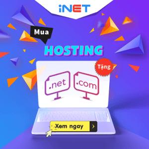 mua hosting tặng tên miền .com/ .net