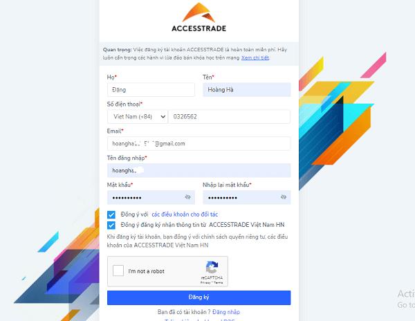 affiliate marketing đăng ký