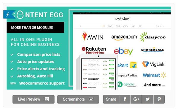 Affiliate Plugin Content Egg
