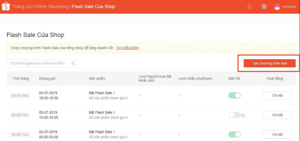 cách đăng ký flash sale trên shopee