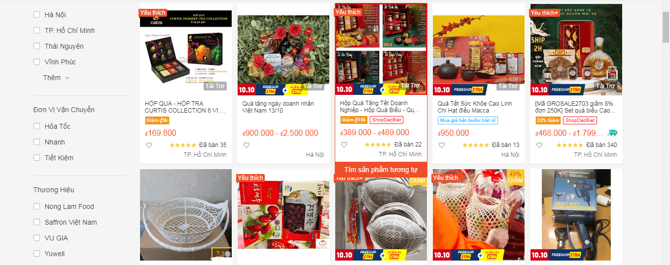 mặt hàng bán chạy trên shopee